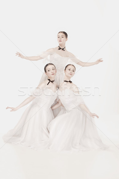 Romantikus szépség retró stílus portré három nők Stock fotó © master1305