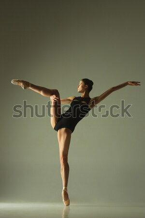 Jonge aantrekkelijk moderne balletdanser witte dans Stockfoto © master1305