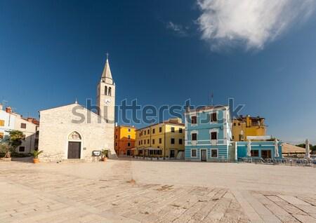 Waterfront square in Fazana Stock photo © master1305
