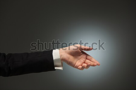 Dressed in a business suit caucasian male hand Stock photo © master1305