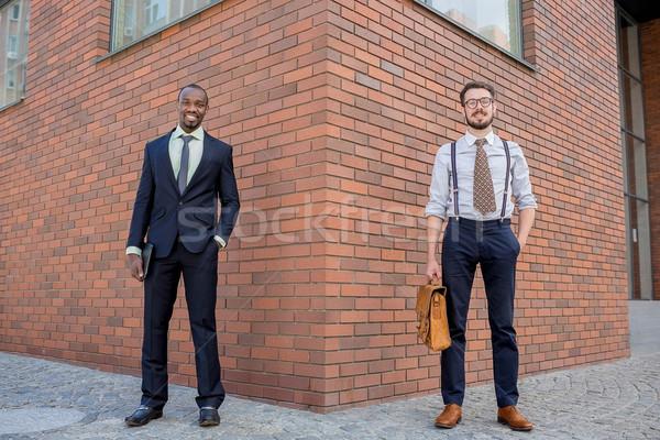 Retrato equipe de negócios dois homens em pé fundo Foto stock © master1305
