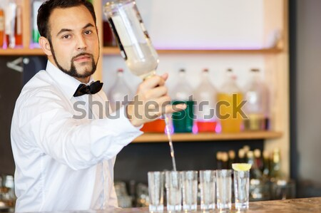 Barman at work, preparing cocktails. Stock photo © master1305