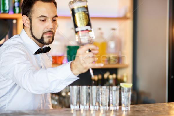 Barman at work, preparing cocktails. Stock photo © master1305