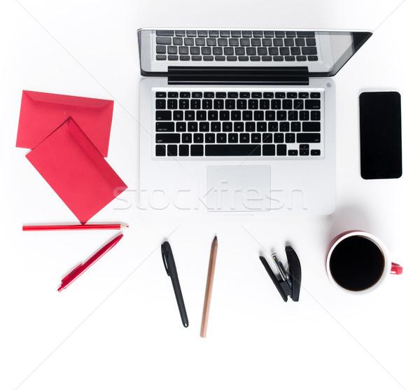 Işyeri ofis teknoloji rahat beyaz Stok fotoğraf © master1305