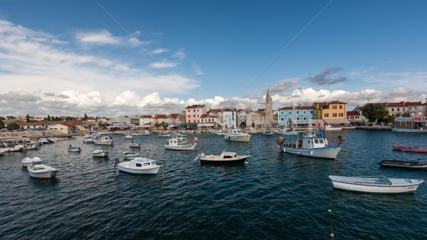 Hırvatistan güzel küçük liman tekneler plaj Stok fotoğraf © master1305
