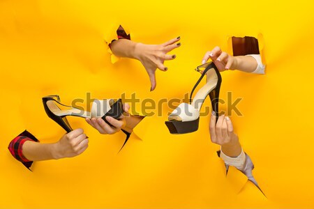 Many hands reaching out up in the air Stock photo © master1305