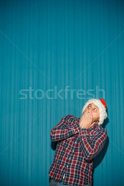 Asustado Navidad hombre sombrero Foto stock © master1305