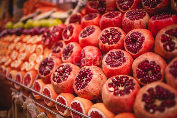 Colorato foto mercato arance alimentare natura Foto d'archivio © master1305