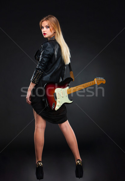 The beautiful girl with guitar Stock photo © master1305