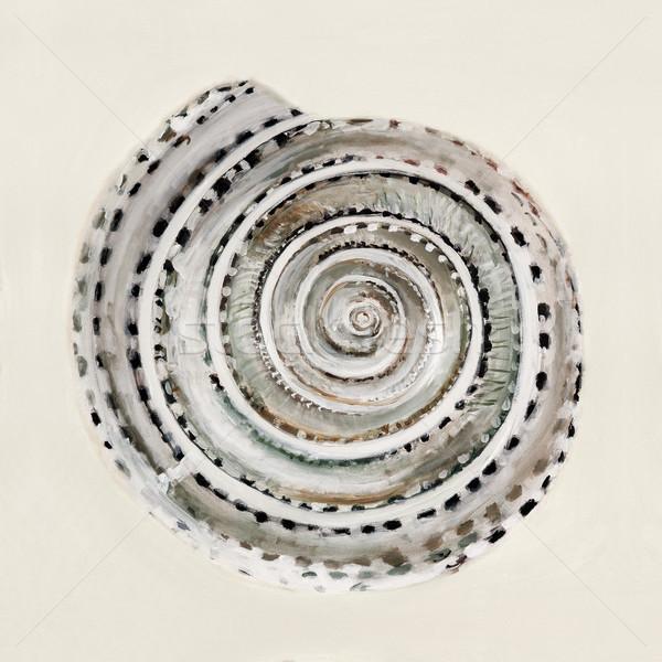 Tenger kagyló pasztell színek olaj festmény Stock fotó © master1305