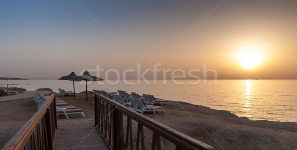 Mar puesta de sol Egipto playa mar rojo encanto Foto stock © master1305