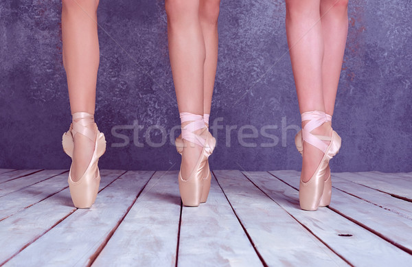 ストックフォト: フィート · 小さな · 靴 · クローズアップ · 3 ·