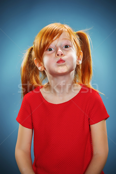 Beautiful portrait of a happy little funny girl  Stock photo © master1305