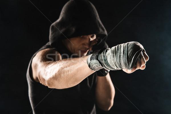 Primo piano mano muscolare uomo fasciatura formazione Foto d'archivio © master1305