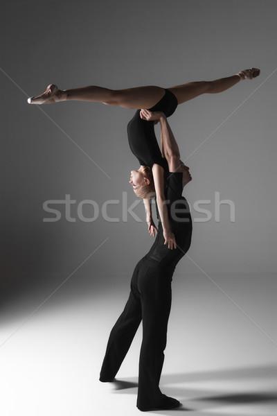 2 小さな 現代 バレエ ダンサー グレー ストックフォト © master1305