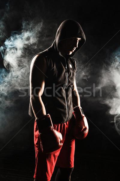 Giovane kickboxing giovani maschio atleta piedi Foto d'archivio © master1305