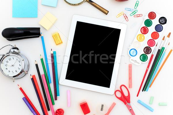 学校 セット 鉛筆 ブラシ はさみ ストックフォト © master1305
