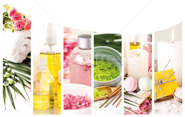 Spa theme photo collage composed of different images Stock photo © master1305