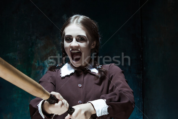 портрет школьную форму убийца женщину Сток-фото © master1305