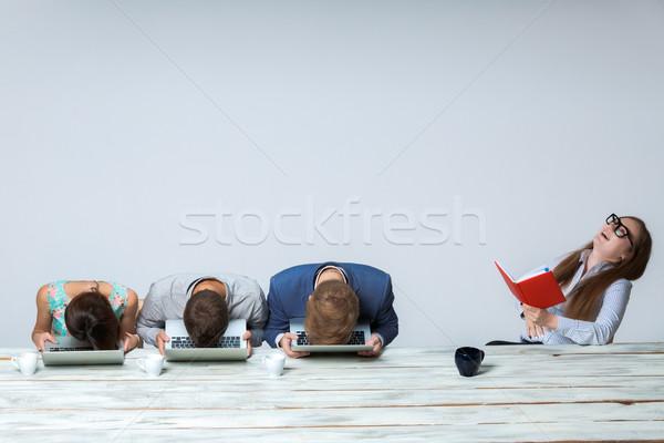 équipe commerciale travail affaires projet ensemble bureau Photo stock © master1305