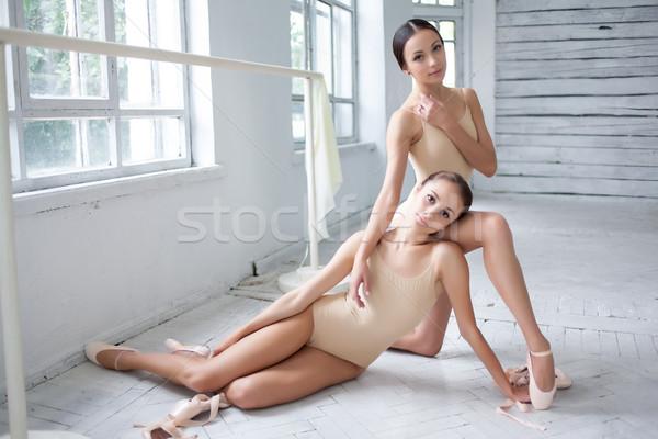 2 バレエ ダンサー ポーズ 白 ストックフォト © master1305