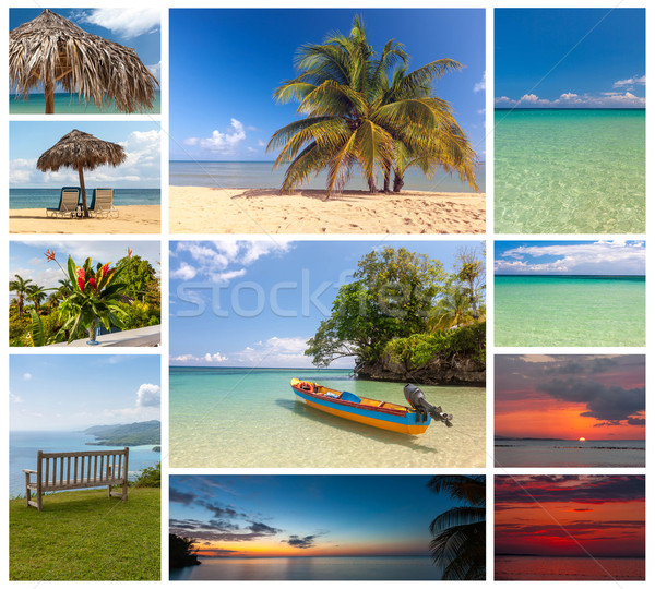 Stock photo: Collage of beach holiday scenes