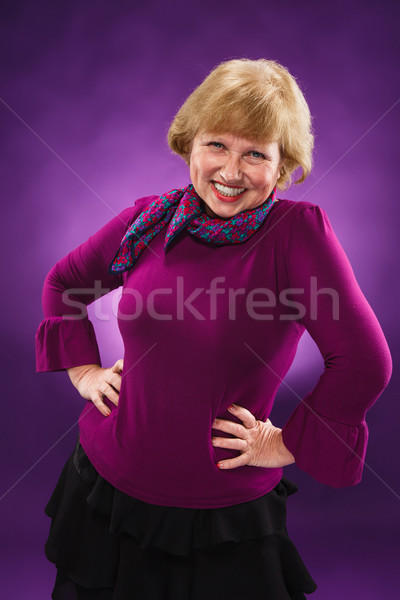 Old age woman laughing  Stock photo © master1305