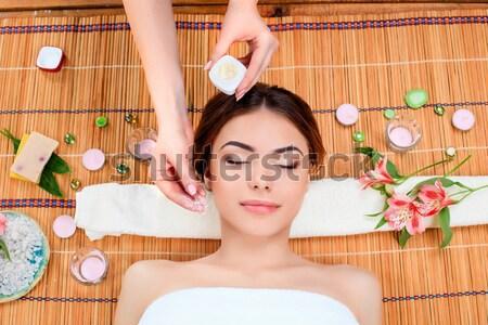 Bella spa salone riposo paglia Foto d'archivio © master1305
