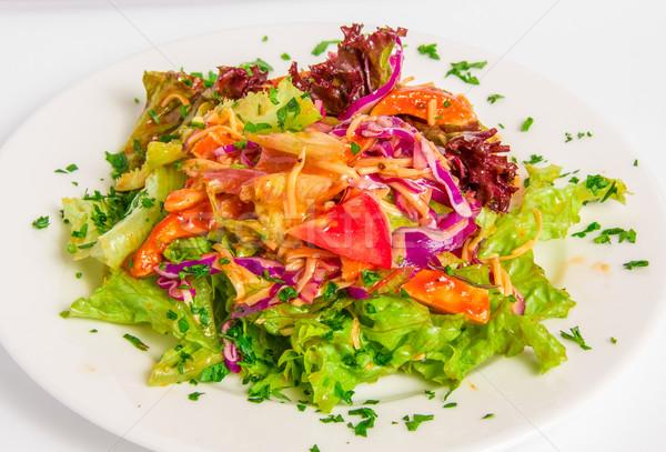 Salada de frango topo ver churrasco tomates queijo Foto stock © master1305