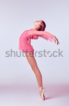 Young ballerina dancer showing her techniques Stock photo © master1305
