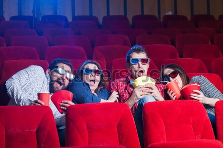 Narodów emocje kina wybór ludzi znajomych Zdjęcia stock © master1305