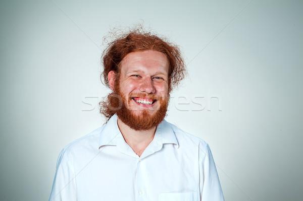 Foto stock: Moço · olhando · câmera · jovem · sorridente · homem