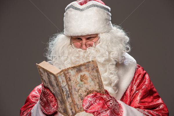 Zdjęcia stock: Święty · mikołaj · czytania · książki · szczęśliwy · okulary · starej · książki