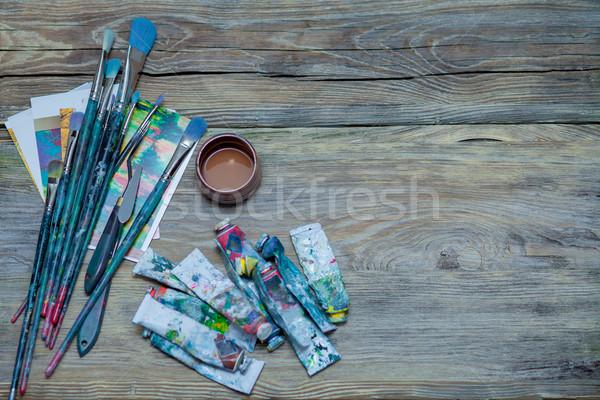 Ferramentas artista escolas pintar vida ferramenta Foto stock © master1305