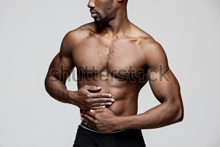 Atractivo masculina cuerpo constructor blanco torso Foto stock © master1305