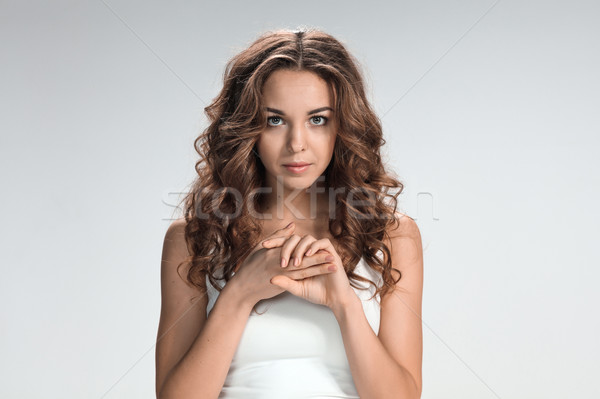 The young woman's portrait with sad emotions Stock photo © master1305