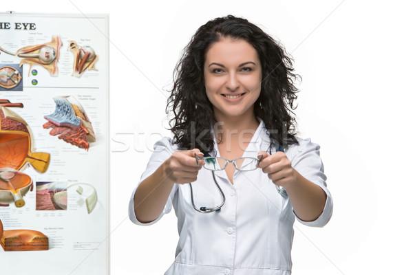 Optician or oculist woman.  Stock photo © master1305