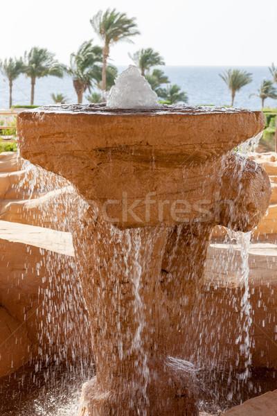 Praia luxo hotel Egito fonte primeiro plano Foto stock © master1305