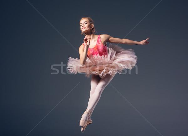美しい 女性 バレエダンサー グレー バレリーナ 着用 ストックフォト © master1305