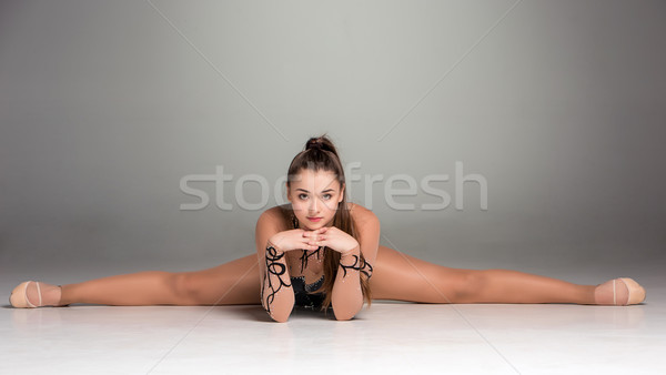 portrait of a gymnast stretching twine Stock photo © master1305