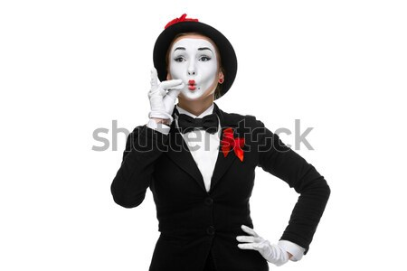 Portrait of the mime representing something very small in size Stock photo © master1305