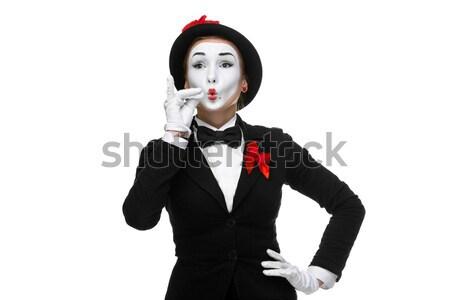 Retrato algo pequeño tamaño mujer Foto stock © master1305