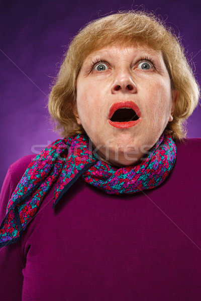 The frightened senior woman Stock photo © master1305