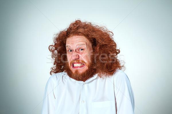 портрет человека долго лице глазах Сток-фото © master1305