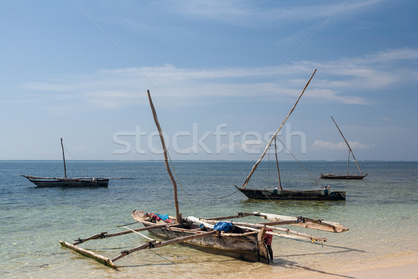 Old wooden arabian dhow in the ocean  Stock photo © master1305