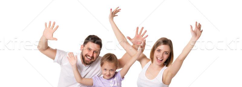 happy family on white background Stock photo © master1305