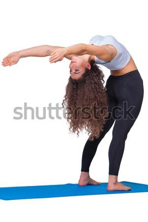 Jóvenes encajar mujer yoga deporte Foto stock © master1305