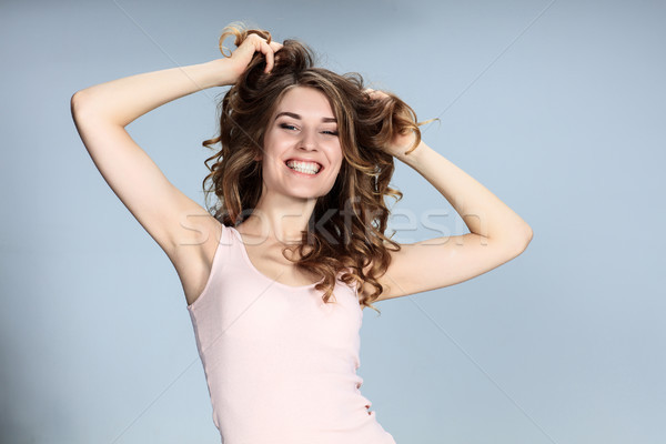 The young woman's portrait with happy emotions Stock photo © master1305