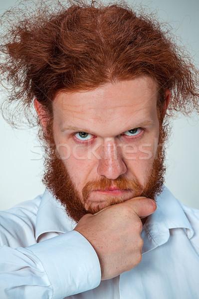 Zdjęcia stock: Portret · człowiek · długo · twarz · oczy