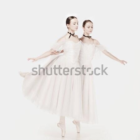 Romántica belleza estilo retro retrato dos mujer Foto stock © master1305